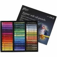Gallery oljepastellkritor premium, L: 7 cm, tjocklek 10 mm, mixade färger, 48 st./ 1 förp.