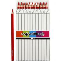 Colortime färgpennor, L: 17,45 cm, kärna 5 mm, JUMBO, röd, 12 st./ 1 förp.