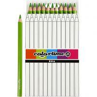 Colortime färgpennor, L: 17,45 cm, kärna 5 mm, JUMBO, ljusgrön, 12 st./ 1 förp.