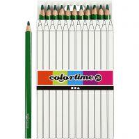 Colortime färgpennor, L: 17,45 cm, kärna 5 mm, JUMBO, grön, 12 st./ 1 förp.
