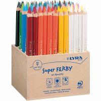 Lyra Super Ferby 1 färgpennor, L: 18 cm, kärna 6,25 mm, mixade färger, 96 st./ 1 förp.