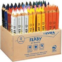 Lyra Super Ferby 1 färgpennor, L: 12 cm, kärna 6,25 mm, mixade färger, 96 st./ 1 förp.