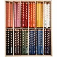 Groove färgpennor, L: 18 cm, kärna 4.25 mm, mixade färger, 12x12 st./ 1 förp.