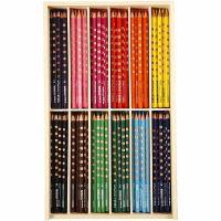 Groove Slim färgpennor, L: 18 cm, kärna 3,3 mm, mixade färger, 12x12 st./ 1 förp.