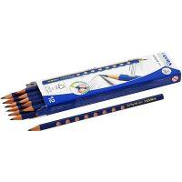 Lyra Groove Graphite blyertspennor, Dia. 7,2 mm, hårdhet HB, kärna 3,3 mm, 12 st./ 1 förp.