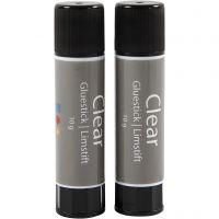 Clear limstift, Rund, 2 st./ 1 förp., 10 g