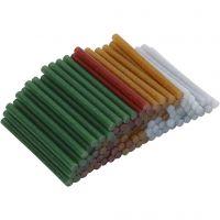 Limstängerna, L: 10 cm, Dia. 7 mm, glitter, guld, grön, röd, silver, 100 st./ 1 förp.