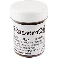 Paver Color, brun, 40 ml/ 1 flaska