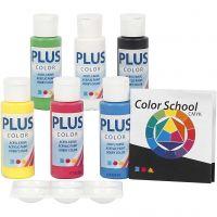 Plus Color hobbyfärg, primärfärger, 6x60 ml/ 1 förp.