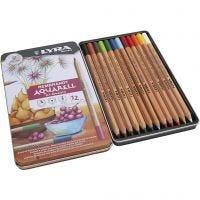 Lyra Rembrandt akvarell-färgblyertspennor, mixade färger, 12 st./ 1 förp.