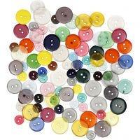 Knappmix, Dia. 12+18+20 mm, mixade färger, 100 st./ 1 förp., 50 g