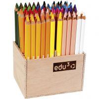 edu kraftiga färgblyertspennor, tjocklek 10 mm, kärna 6,25 mm, mixade färger, 96 st./ 1 förp.