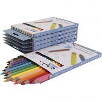 edu jumbo färgblyertspennor, tjocklek 10 mm, kärna 5 mm, mixade färger, 72 st./ 1 förp.
