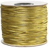 Elastiskt snöre, tjocklek 1 mm, guld, 100 m/ 1 rl.