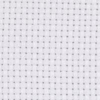 Aida broderiväv, stl. 50x50 cm, 43 rutor per 10 cm, vit, 1 st.