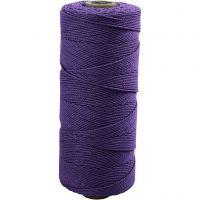 Knytgarn, L: 315 m, tjocklek 1 mm, Tunn kvalitet 12/12, violet, 220 g/ 1 nystan