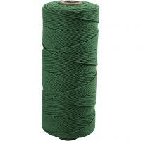 Knytgarn, L: 315 m, tjocklek 1 mm, Tunn kvalitet 12/12, grön, 220 g/ 1 nystan