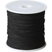 Knytsnören, tjocklek 1 mm, svart, 50 m/ 1 rl.