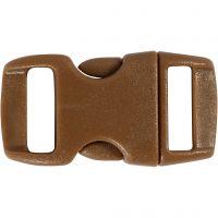 Klicklås, L: 29 mm, B: 15 mm, Hålstl. 3x11 mm, brun, 4 st./ 1 förp.