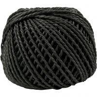 Paperyarn, tjocklek 2,5-3 mm, svart, 40 m/ 1 nystan, 150 g