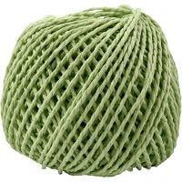 Paperyarn, tjocklek 2,5-3 mm, ljusgrön, 40 m/ 1 nystan, 150 g