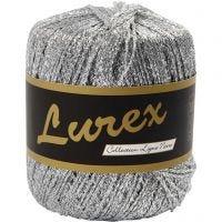 Lurex garn, L: 160 m, silver, 25 g/ 1 nystan
