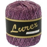 Lurex garn, L: 160 m, lila, 25 g/ 1 nystan