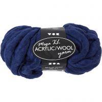 XL Akrylgarn med ull, L: 15 m, stl. mega , mörkblå, 300 g/ 1 nystan