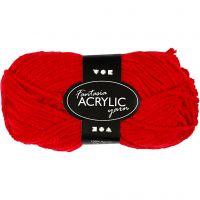 Fantasia Akrylgarn, L: 80 m, röd, 50 g/ 1 nystan