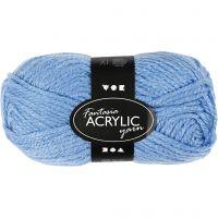 Fantasia Akrylgarn, L: 80 m, blå, 50 g/ 1 nystan
