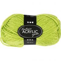 Fantasia Akrylgarn, L: 80 m, ljusgrön, 50 g/ 1 nystan