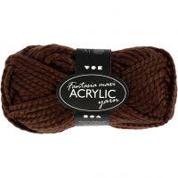 Fantasia Akrylgarn, brun, 50 g/ 1 nystan