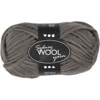 Sydney ullgarn, L: 50 m, grå, 50 g/ 1 nystan