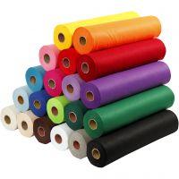 Hobbyfilt, B: 45 cm, tjocklek 1,5 mm, 180-200 g, mixade färger, 20x5 m/ 1 förp.