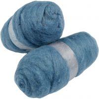 Kardad ull, himmelsblå, 2x100 g/ 1 förp.