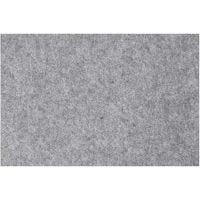 Hobbyfilt, 42x60 cm, tjocklek 3 mm, grå, 1 ark