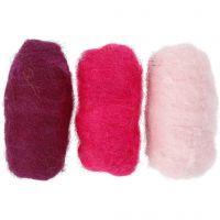 Kardad ull, lila/pink harmoni, 3x10 g/ 1 förp.