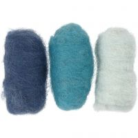 Kardad ull, blå harmoni, 3x10 g/ 1 förp.