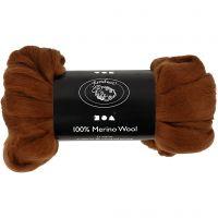 Merinoull, tjocklek 21 my, brun, 100 g/ 1 förp.