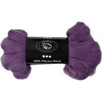 Merinoull, tjocklek 21 my, violet, 100 g/ 1 förp.