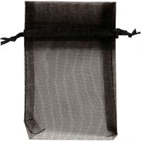 Organzapåsar, stl. 7x10 cm, svart, 10 st./ 1 förp.
