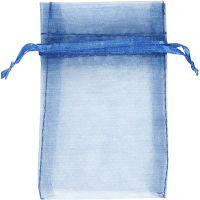 Organzapåsar, stl. 7x10 cm, blå, 10 st./ 1 förp.