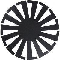 Fläta enkelt schablon, H: 8 cm, Dia. 14 cm, svart, 10 st./ 1 förp.