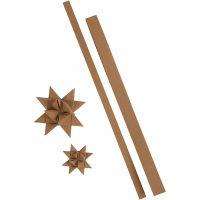 Stjärnstrimlor, L: 44+78 cm, B: 15+25 mm, 350 g, natur, 24 strimlor/ 1 förp.