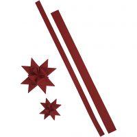 Stjärnstrimlor, L: 44+78 cm, B: 15+25 mm, 350 g, röd, 24 strimlor/ 1 förp.