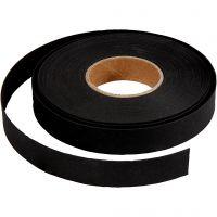 Flätstrimlor, B: 15 mm, tjocklek 0,55 mm, svart, 9,5 m/ 1 rl.