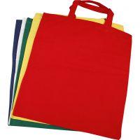 Textilkasse, stl. 38x42 cm, 135 g, mixade färger, 5 st./ 1 förp.