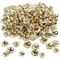 Bjällror, Dia. 13+15+17 mm, guld, 220 mix./ 1 förp.