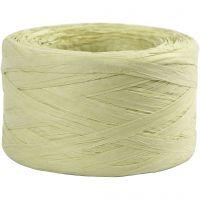Raffia pappersgarn, B: 7-8 mm, ljusgrön, 100 m/ 1 rl.