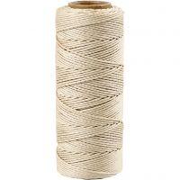 Bambusnöre, tjocklek 1 mm, råvit, 65 m/ 1 rl.
